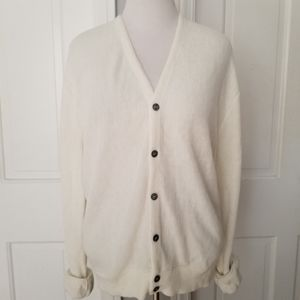 Button Down Cream Grandpa Cardigan Sweater Carmel